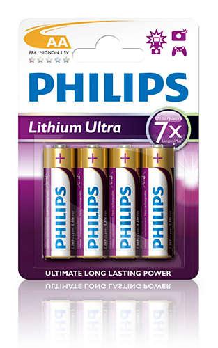 Philips baterie AA Ultra lithium - 4ks