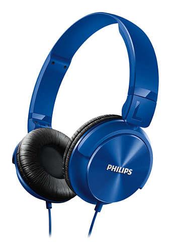 Philips sluchátka s polstrovanými náušníky SHL3060BL, modrá