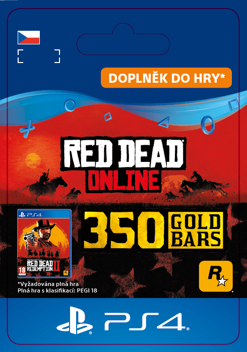 ESD CZ PS4 - Red Dead Online: 350 Gold Bars