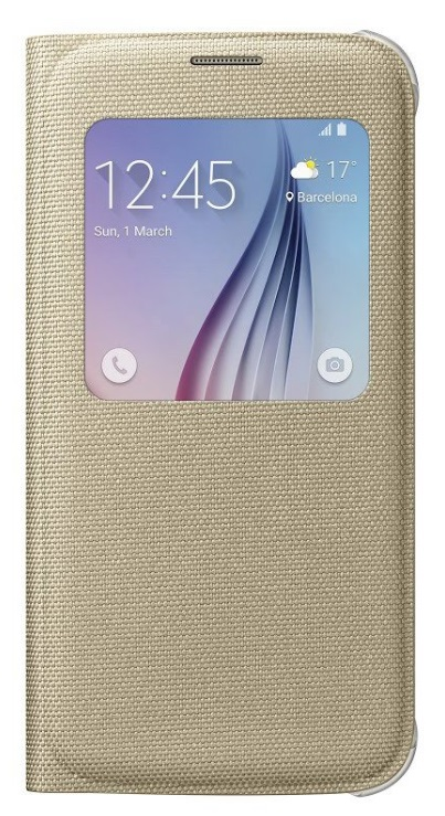 Samsung flipové pouzdro S-view EF-CG920B pro Samsung Galaxy S6 (SM-G920F), zlatá