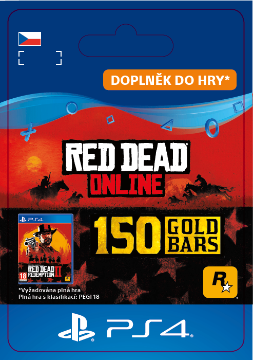 ESD CZ PS4 - Red Dead Online: 150 Gold Bars