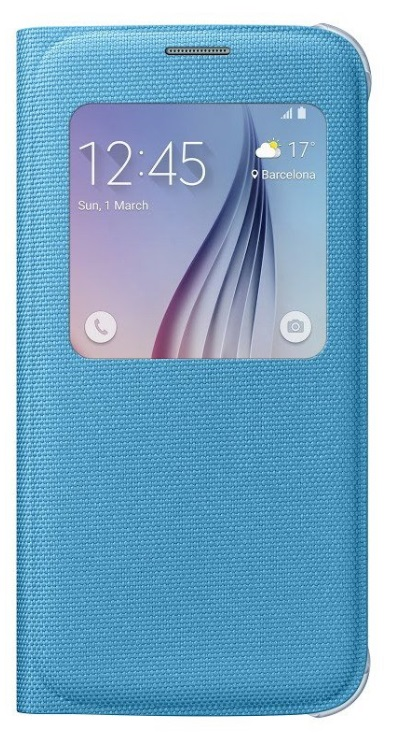 Samsung flipové pouzdro S-view EF-CG920B pro Samsung Galaxy S6 (SM-G920F), Modrá