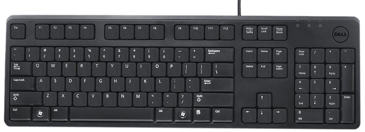 Dell klávesnice KB212-B QuietKey černá GER, USB
