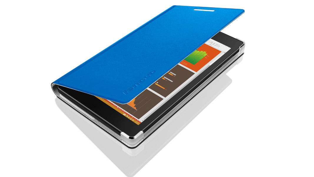 Lenovo TAB 2 A7-10 Folio Case and Film (pouzdro+folie) - modrá