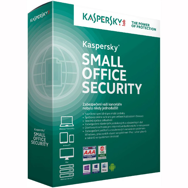 Kaspersky Small Office 6, 15-19 Mobile, 15-19 PC, 2-FileServer, 15-19 User 1 year Nová