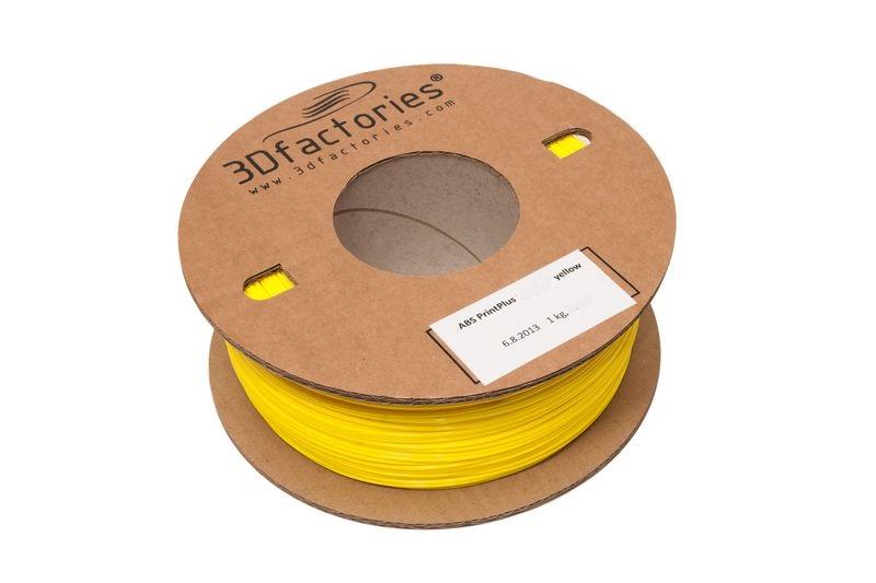 OEM tisková struna ABS žlutá 1,75 mm 1 Kg