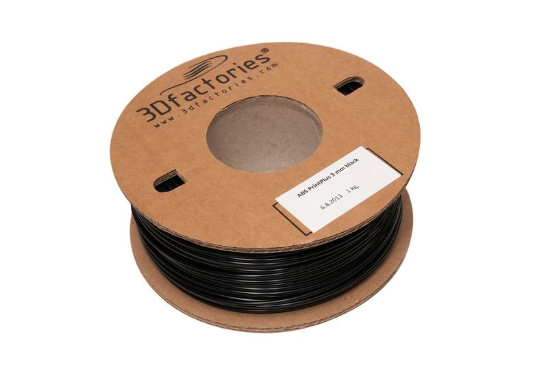 OEM tisková struna ABS černá 1,75 mm 1 Kg