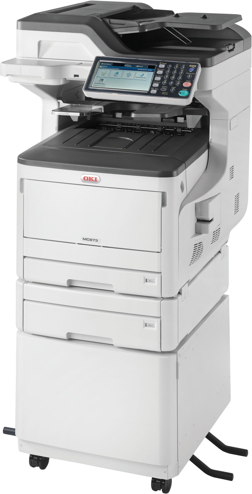 Oki MC873dnct A3 35ppm ProQ2400DPI, PCL/PS,USB,LAN (Print/Scan/Copy/Fax), 250GB HDD