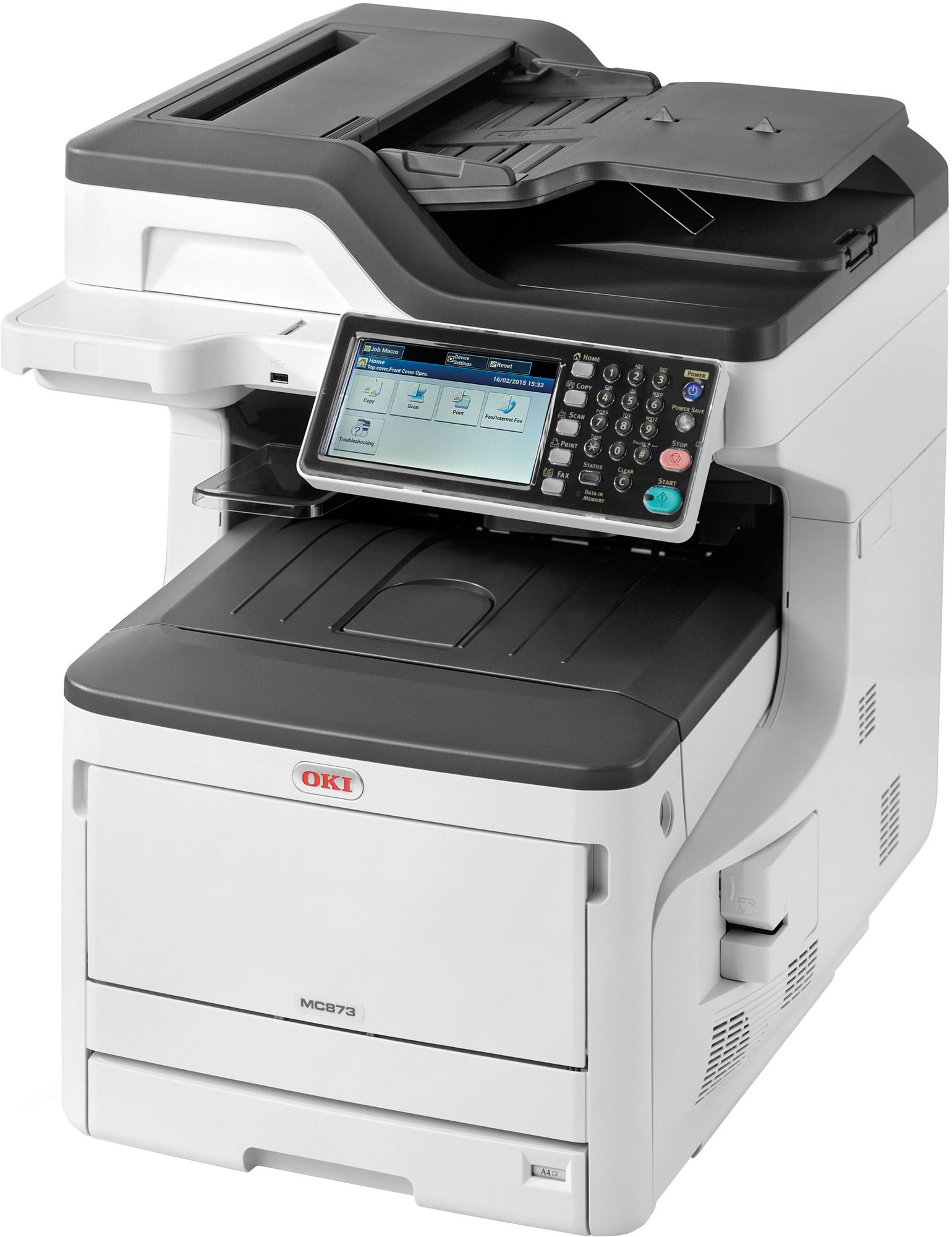 Oki MC873dn A3 35ppm ProQ2400DPI, PCL/PS,USB,LAN (Print/Scan/Copy/Fax), 250GB HDD
