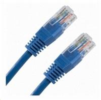 Patch kabel Cat5E, UTP - 0,5m, modrý