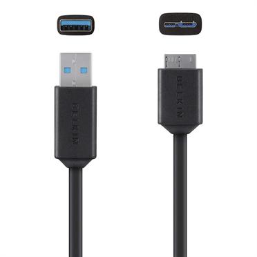 BELKIN kabel Micro-B to USB 3.0, 0,9 m, černý