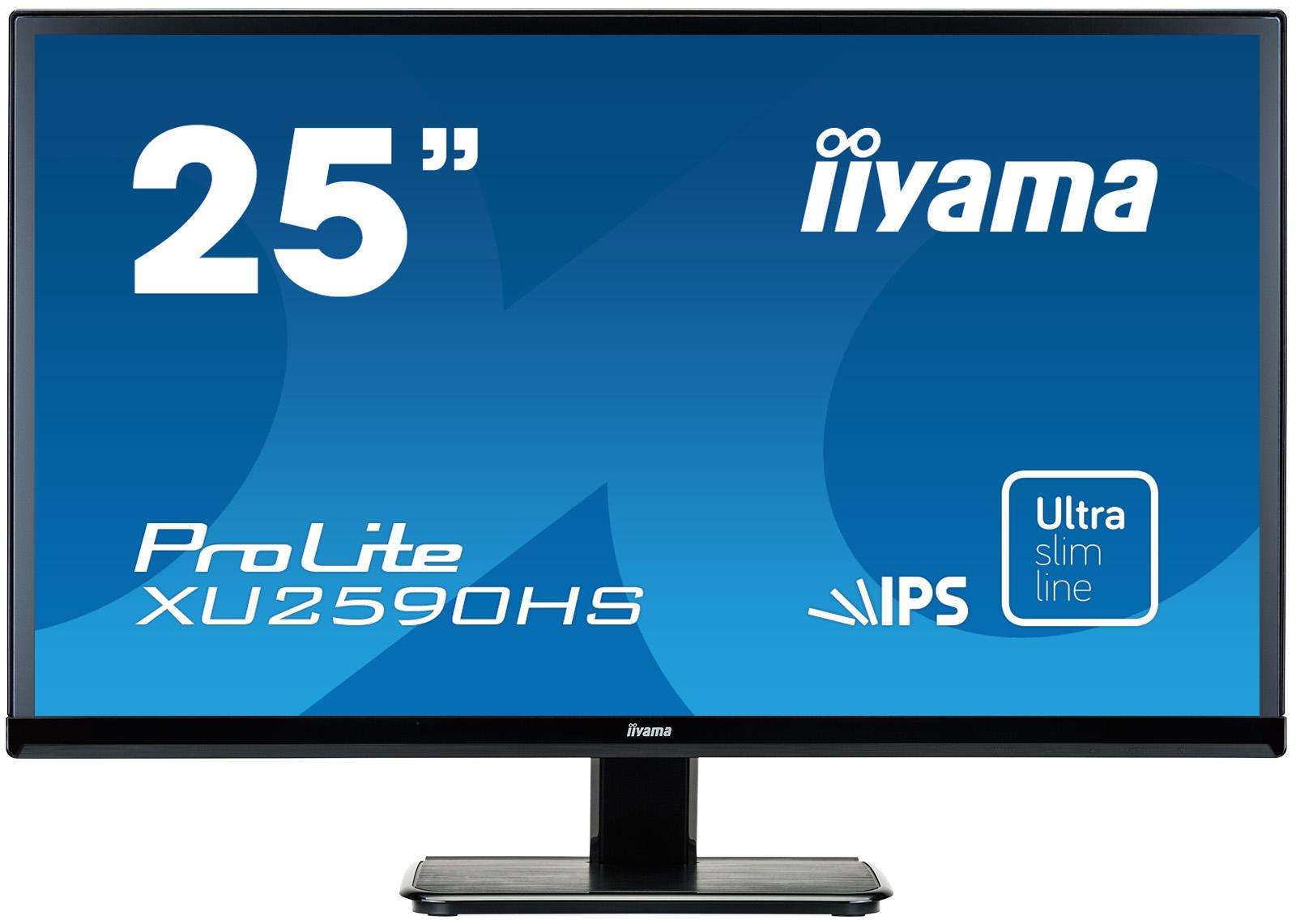"""25"""" LCD iiyama XU2590HS-B1 - IPS, 5ms, 250cd/m2, 1000:1 (5M:1 ACR), VGA, DVI, HDMI, repro"""