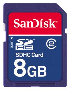 SanDisk SDHC karta 8GB