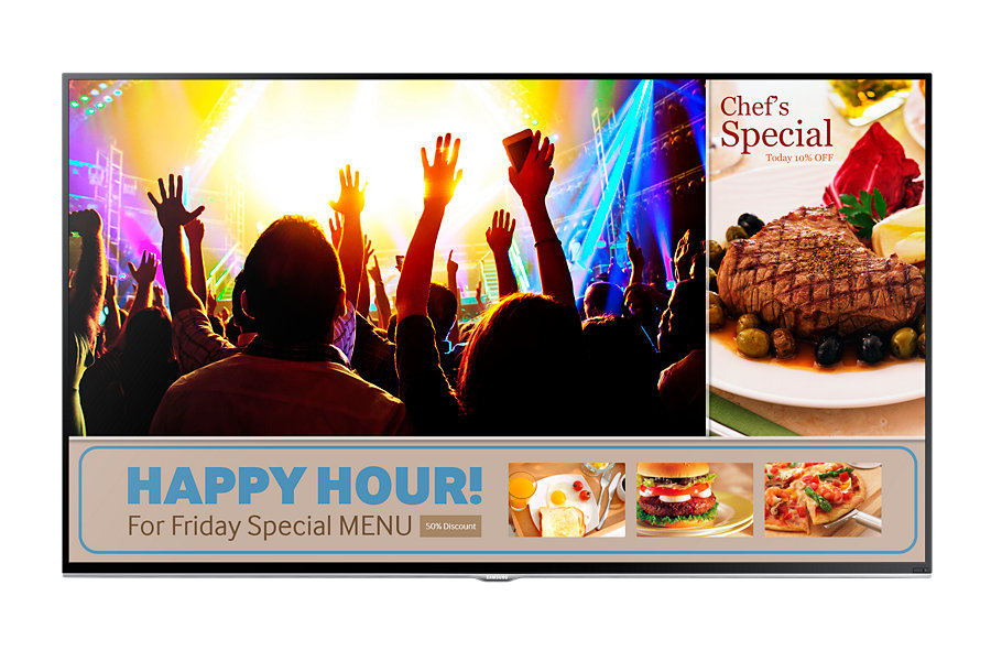 "SAMSUNG LH48RMDELGW/EN (SMART Signage TV) /48""/BLU LED/1920x1080/5000:1/8ms/(D-SUB,HDMI,repro,VESA)"