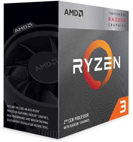 AMD Ryzen 3 3200G, 4C/4T, 4 GHz, 6 MB, AM4, 65W, 12nm, BOX