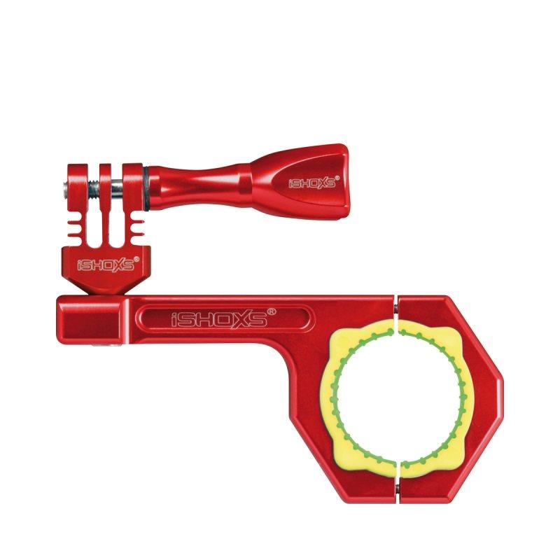 Rollei Bullbar 34 - Červený hliníkový držák na kolo pro kamery GoPro a Rollei, vhodné pro průměry 30-34 mm