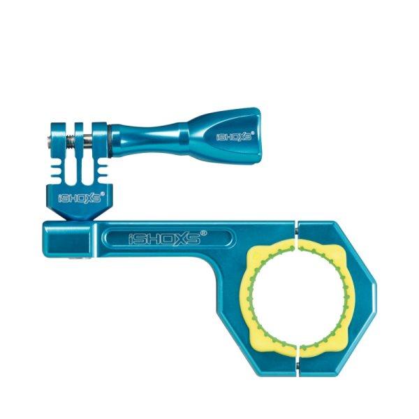 Rollei Bullbar 34 - Modrý hliníkový držák na kolo pro kamery GoPro a Rollei, vhodné pro průměry 30-34 mm