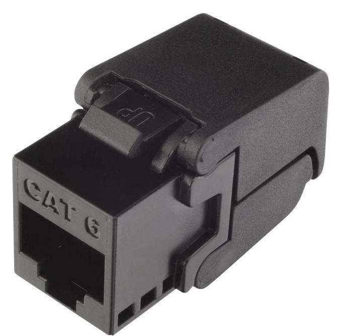 Keystone Solarix CAT6 UTP RJ45 černý samořezný