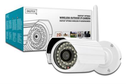 DIGITUS Plug & View Bezdrátová IP kamera, OptiGuard 2MP IP 11N H.264 Venkovní Denní & Noční kamera