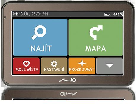 "MIO Spirit 7550 5"" mapy EU Lifetime + univerzální autokoberečky zdarma"