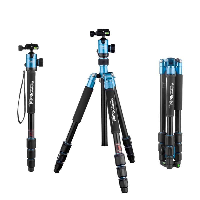 Rollei Stativ C5i + Hlava FPH-52Q/ Zátěž 8kg/ Vytažený 159 cm/ Modrý
