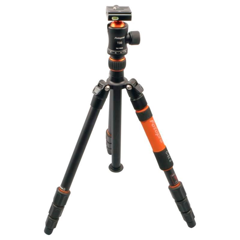 Rollei Fotopro Stativ C5i II + Hlava T3S/ Zátěž 10kg/ Vytažený 159 cm/ Oranžový