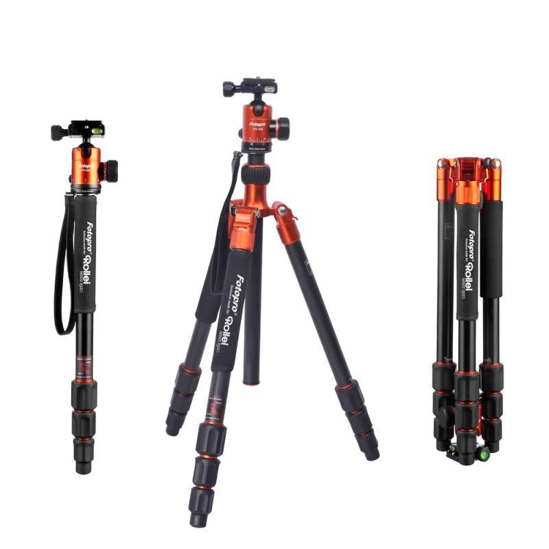 Rollei Stativ C5i + Hlava FPH-52Q/ Zátěž 8kg/ Vytažený 159 cm/ Oranžový
