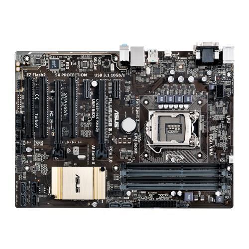 ASUS B85-PLUS/USB 3.1, B85, DualDDR3-1600, SATA3, DVI, D-Sub, USB 3.1, ATX