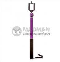 MadMan Selfie tyč PRO RC 112 cm fialová (monopod)