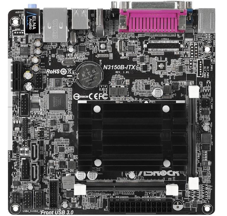 ASRock N3150B-ITX, N3150, DualDDR3-1600, SATA3, HDMI, D-Sub, USB 3.0, mITX