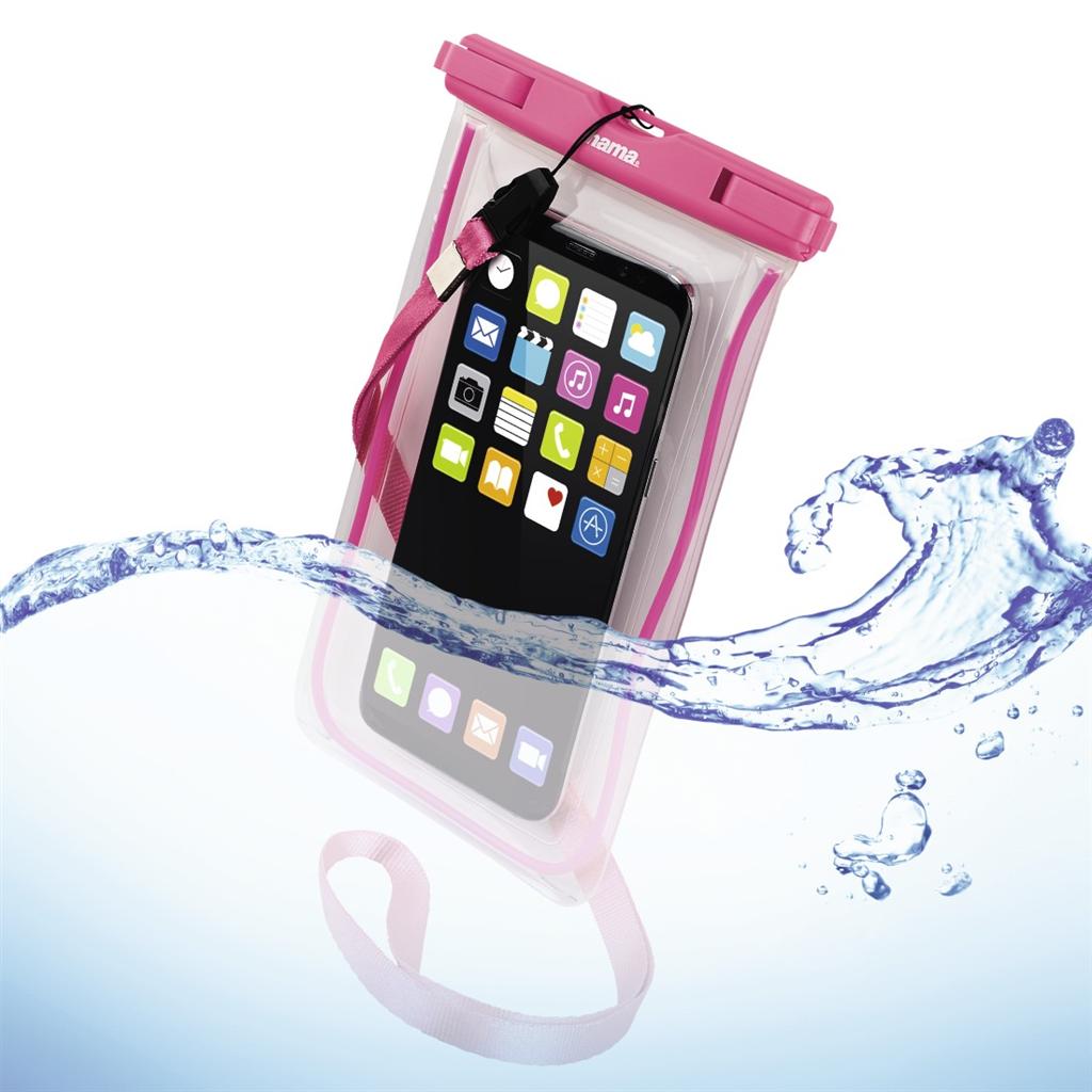 Hama Playa, outdoorové pouzdro na mobil, velikost XXL, růžové