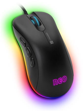 CONNECT IT NEO profesionální optická herní myš se softwarem, 6400 DPI