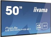 "50"" iiyama LE5040UHS-B1 - AMVA3,4K UHD,8ms,350cd/m2, 4000:1,16:9,VGA,HDMI,DVI,USB,RS232,RJ45,repro."