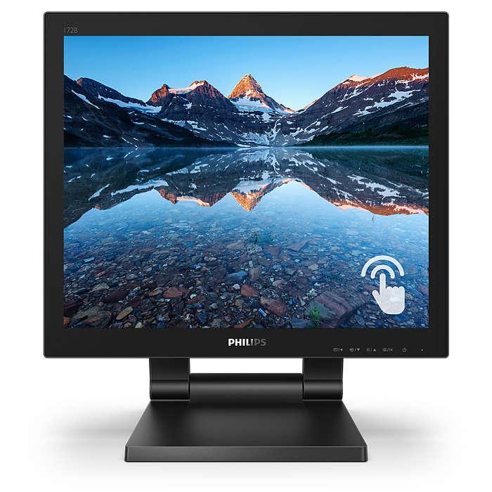 """Philips LCD 172B9T 17"""" 5:4 TN Touch/1280x1024@60Hz/50M:1/1ms/250 cd/m2/VGA/DVI/HDMI/DP/2xUSB/VESA/Repro"""
