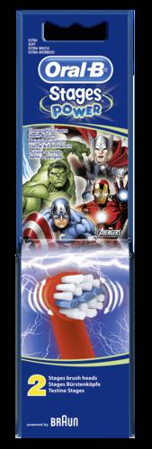 Braun Oral-B nahradni hlavice Avengers Power 2 ks