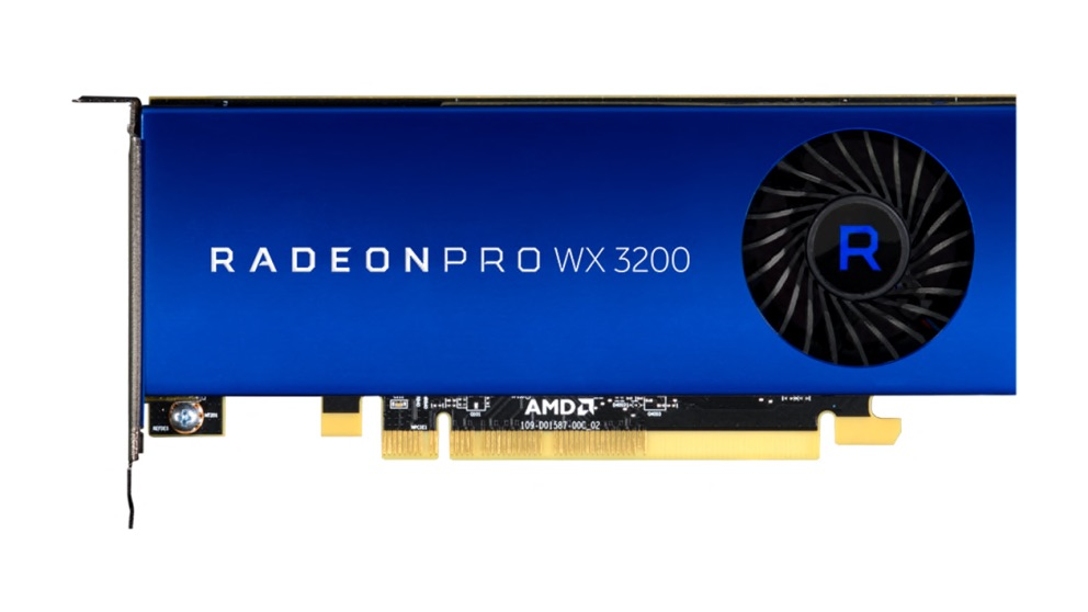 AMD Radeon Pro WX 3200 4GB (4)mDP GFX, w/2 mDP-to-DP adapters included