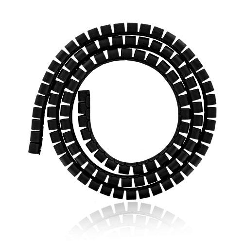 4World Organizér kabelů SMART SNAKE - průměr 16mm, délka 1.5m, černý