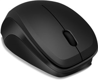 LEDGY Mouse - wireless, black-black
