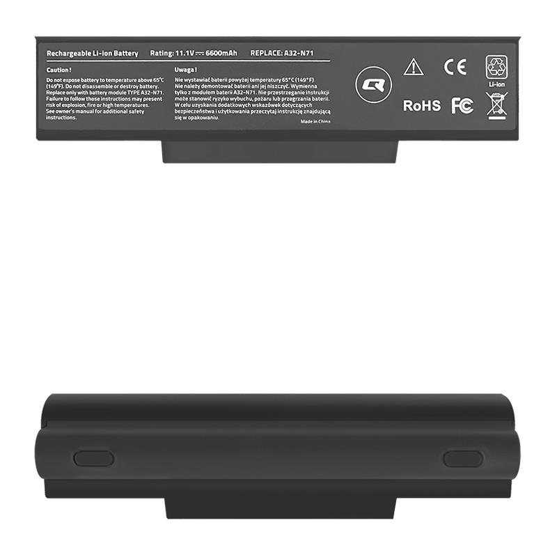 Qoltec Long Life Notebook Battery - Asus K72 K73SV | 6600mAh | 11.1V