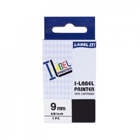 PRINTLINE kompatibilní páska s Casio, XR-9WE1, 9mm, 8m, černý tisk/bílý podklad