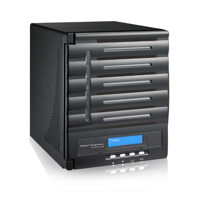 Thecus 5-Bay tower WSS NAS, SATA, 1.86GHz Dual Core, 4GB DDR3, 2x GbE, USB 3.0