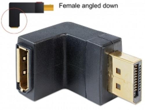 Delock Adapter Displayport 1.1 male > Displayport female angled down