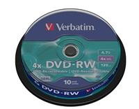 VERBATIM DVD-RW 4,7GB/ 4x/ 10pack/ spindle