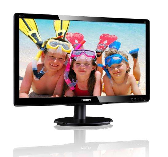 "Philips LCD 200V4QSBR 19,5""wide MVA/1920x1080/8ms/10mil:1/VGA/DVI"