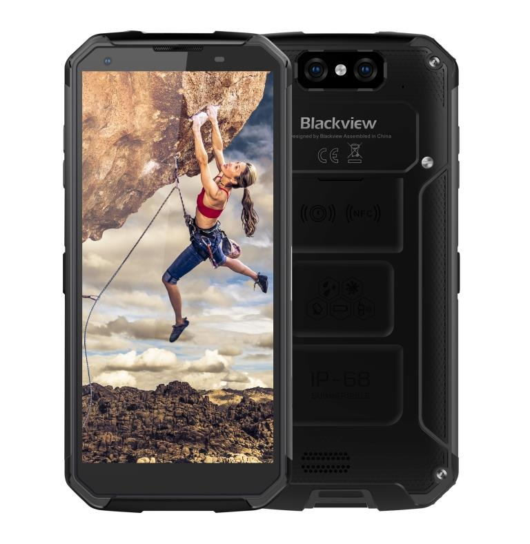 "iGET Blackview GBV9500 Plus Black odolný telefon, 5,7"" FHD, 4GB+64GB, DualSIM, 4G, IP69K, Android 9"