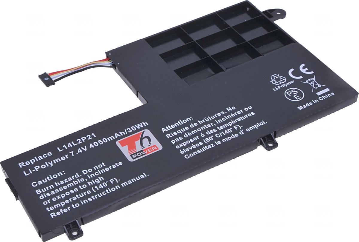 Baterie T6 power Lenovo IdeaPad 300S-14ISK, 500S-14ISK, 510S-14ISK, 4050mAh, 30Wh, 2cell, Li-pol