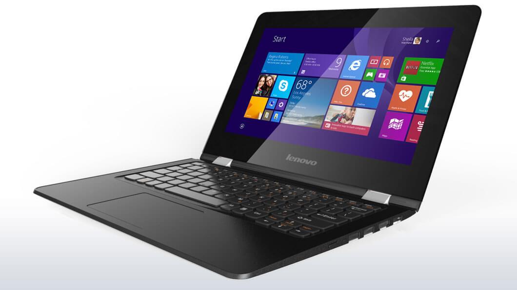 "Lenovo YOGA 300 Celeron N2940 2,25GHz/2GB/64GB eMMC/11,6"" HD/multitouch/WIN8.1 černá 80M0006BCK"