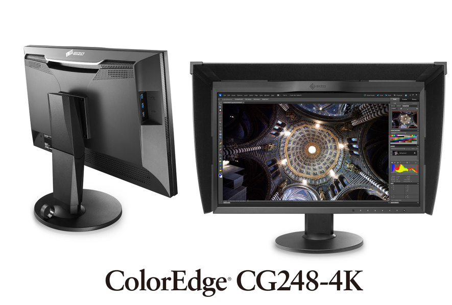"EIZO 24"" CG248-4K-BK, 4K 3840 × 2160/350 cd/m2/1000 :1/2x Display port/2x HDMI/černý"