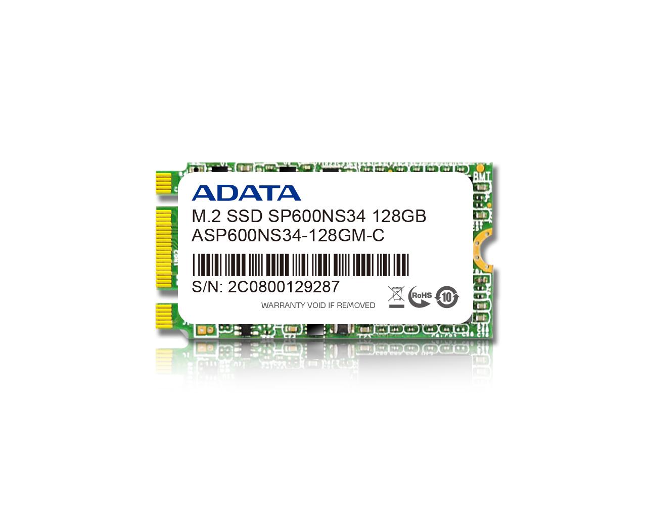 ADATA SSD SP600NS34 128GB M.2 SATA 2242