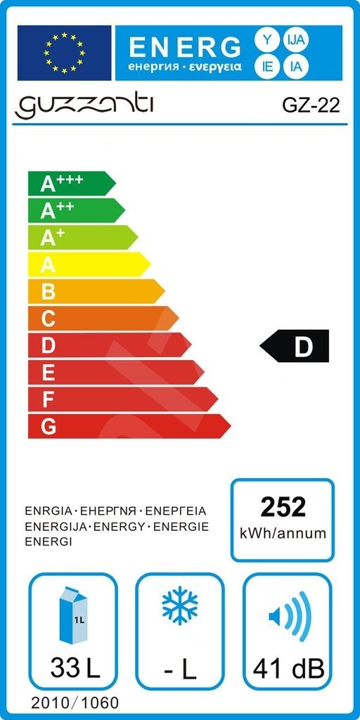 Termochladicí prosklená duální vinotéka Guzaznti GZ 22